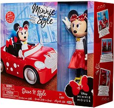 """Мини Маус с мини купър - Комплект детски играчки от серията """"Мики Маус"""" - несесер"""