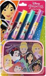 Детски комплект с гланцове за устни и несесер - Disney Princess - балсам