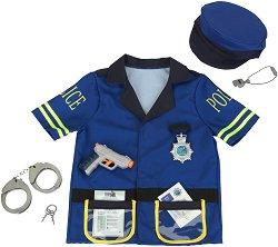 Парти костюм - Полицейска униформа - В комплект с аксесоари -