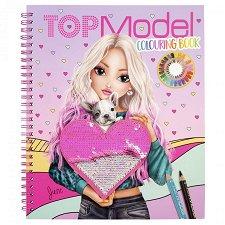 Топ Модел: Книжка за оцветяване с пайети - продукт