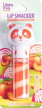 Lip Smacker Lippy Pals Gloss - Panda - Гланц за устни с аромат на праскова - спирала