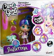 Кукла и фигурка с накъдрящи се коси - Ballerina -