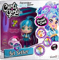 Кукла и фигурка с накъдрящи се коси - Jet Setter - кукла