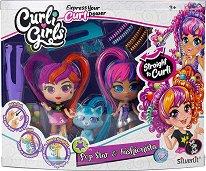 Кукли и фигурка с накъдрящи се коси - Pop Star and Fashionista -