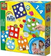 """Аз се уча да лепя - Детски творчески комплект от серията """"My First"""" -"""