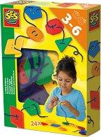 Копчета за нанизване - Детски образователен комплект -