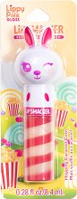 Lip Smacker Lippy Pals Gloss - Bunny - Гланц за устни с аромат на карамелизирани пуканки - маска