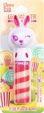 Lip Smacker Lippy Pals Gloss - Bunny - Гланц за устни с аромат на карамелизирани пуканки - спирала