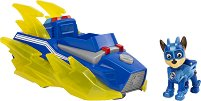 """Чейс и супер автомобил - Детски комплект за игра със светлинни и звукови ефекти от серията """"Пес патрул"""" -"""