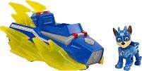 """Чейс и супер автомобил - Детски комплект за игра със светлинни и звукови ефекти от серията """"Пес патрул"""" - играчка"""