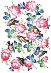 Декупажна хартия - Рози и птици