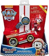 """Маршъл със спортен автомобил - Комплект за игра със звукови ефекти : от серията """"Пес патрул"""" - топка"""