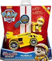 """Ръбъл със спортен автомобил - Комплект за игра със звукови ефекти : от серията """"Пес патрул"""" - играчка"""