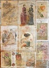 Декупажна хартия - Книга за дами - Формат A3