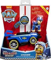 """Чейс със спортен автомобил - Комплект за игра със звукови ефекти : от серията """"Пес патрул"""" - топка"""