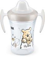 """Неразливаща се чаша с мек накрайник и дръжки - Trainer Cup 230 ml - За бебета над 6 месеца от серията """"Мечо Пух"""" -"""