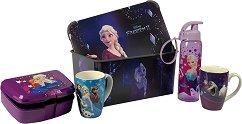 Кутия за съхранение - Замръзналото кралство - В комплект с чаши, шише и кутия за храна -