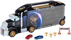 """Автовоз писта - Mack - Детски комплект с аксесоари за съхранение на колички от серията """"Bosch Service"""" - играчка"""