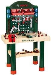 """Детска работилница с инструменти - Детски комплект за игра с аксесоари от серията """"Bosch-mini"""" - играчка"""