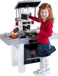 Детска кухня с течаща вода - Bosch - Комплект за игра с аксесоари и светлинни и звукови ефекти - играчка