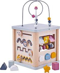 Дидактически куб - Дървена образователна играчка - играчка