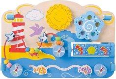 Активен център - Морски свят - Детска дървена образователна играчка - играчка
