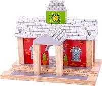 """Дъврена влакова гара - Детска играчка за влакова композиция от серията """"Rails"""" -"""