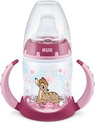 """Неразливаща се чаша с мек накрайник и дръжки - Бамби 150 ml - За бебета от 6 до 18 месеца от серията """"First Choice"""" -"""