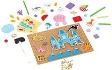 Подводен свят - Детски комплект за игра с коркова дъска и аксесоари -
