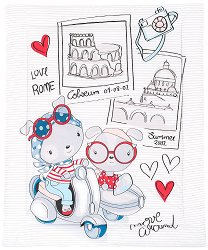 Детска олекотена завивка - Love Rome - С размери 90 x 110 cm - продукт