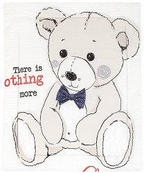 Детска олекотена завивка - Teddy Bear - С размери 90 x 110 cm -