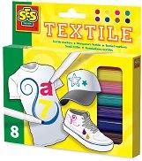 Mаркери за текстил - Комплект от 8 цвята