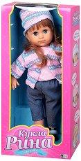 Рина с плетени шапка и жилетка - Говореща кукла -
