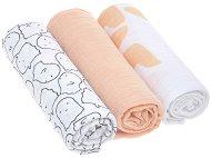 Бебешки муселинови пелени - Little Spookies: Peach - Комплект от 3 броя с размери 85 x 85 cm -