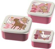Кутии за хранене - Животните във фермата - Комплект от 3 броя -