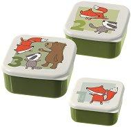 Кутии за хранене - Диви животни - Комплект от 3 броя -