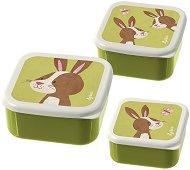 Кутии за хранене - Зайче - Комплект от 3 броя -