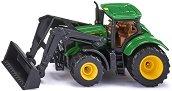 Трактор с лопата - John Deere 6215R - Детска метална играчка -
