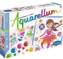 Оцветявай с акварелни бои - Балерини - Творчески комплект за рисуване -