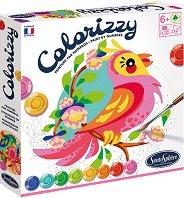 Оцветявай по номера - Птици - Творчески комплект с акрилни бои -