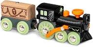 """Призрачно влакче - Детски дървен комплект за игра с фосфоресциращ ефект : От серията """"Brio: Влакчета"""" -"""