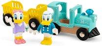 """Влакчето на Доналд и Дейзи Дък - Детски дървен комплект за игра от серията """"Brio: Влакчета"""" -"""