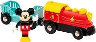 """Влакчето на Мики Маус - Детски дървен комплект за игра от серията """"Brio: Влакчета"""" -"""