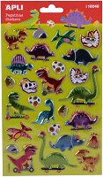 Стикери с метално покритие - Динозаври