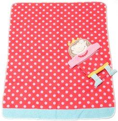 """Бебешко одеяло - 70 x 90 cm - Комплект с мека играчка от серията """"Juwel"""" -"""