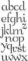 Шаблон - Букви