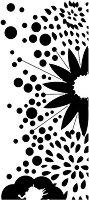 Шаблон - Цветя - Размери 10 x 25 cm