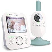 Дигитален видео бебефон - SCD 841/26 - С температурен датчик, мелодии, нощно виждане и възможност за обратна връзка -