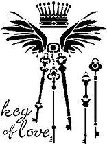 Шаблон - Ключът на любовта - Размери 21 x 29.7 cm
