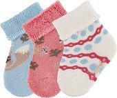 Бебешки чорапи - Комплект от 3 чифта -